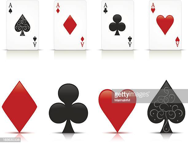 aces - ace stock illustrations, clip art, cartoons, & icons