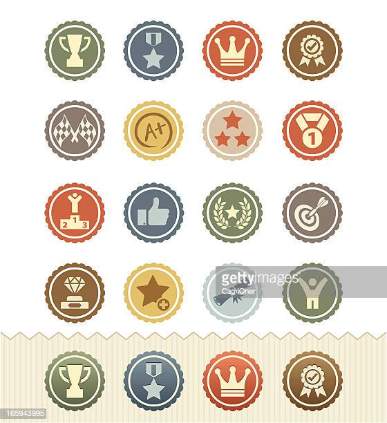 Achievement and Awards Icons : Vintage Badge Series