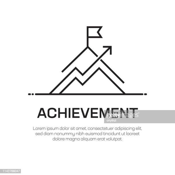 achievement vector line icon - simple thin line icon, premium quality design element - achievement stock illustrations, clip art, cartoons, & icons