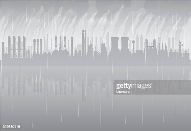 acid rain (all buildings are complete and moveable) - acid stock illustrations