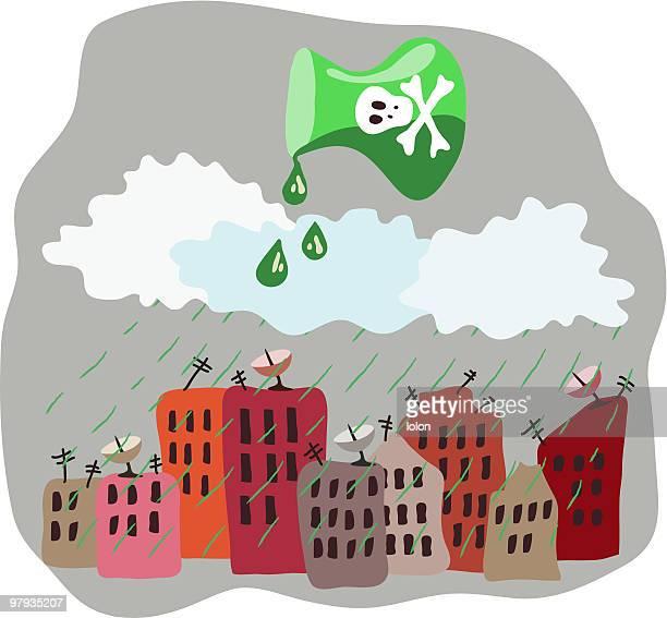 acid rain - acid stock illustrations