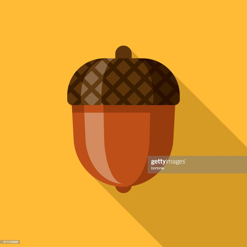 Acorn Flat Design Thanksgiving Icon