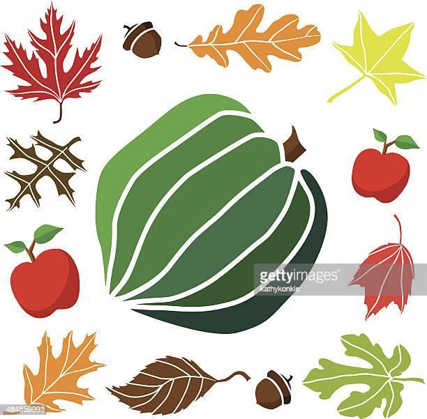 acorn squash and autumn border