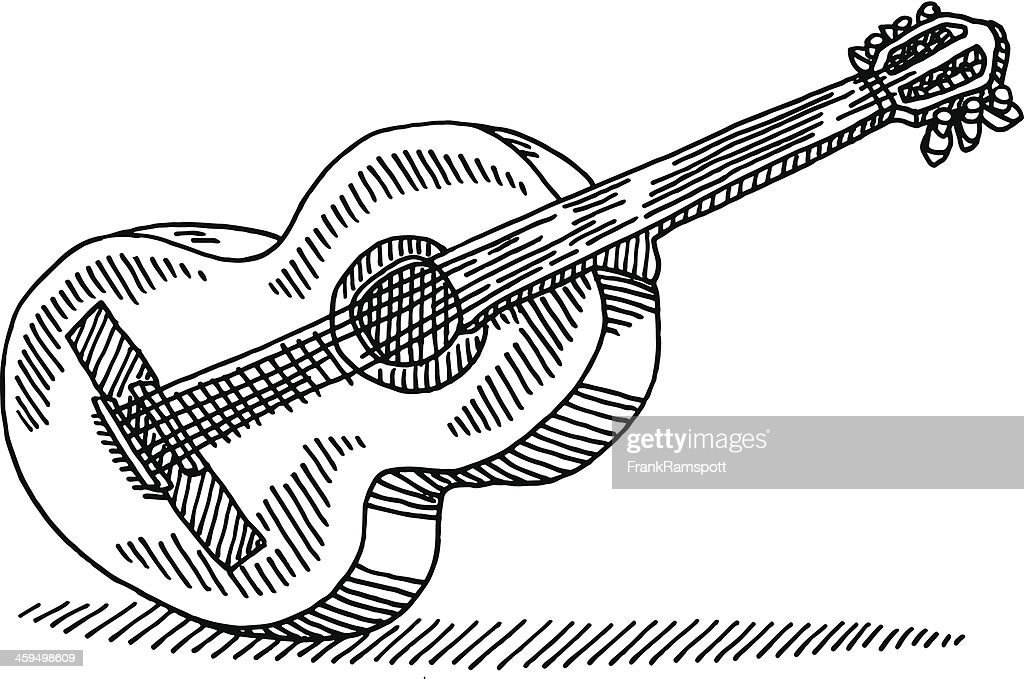 Acoustic Guitar Drawing High Res Vector Graphic Getty Images