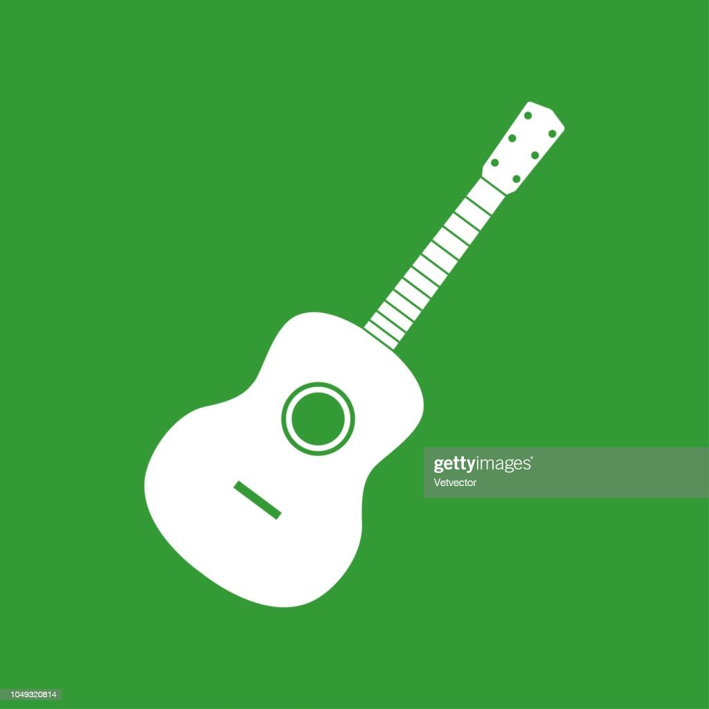 Acoustic guitar. Flat style vector illustration