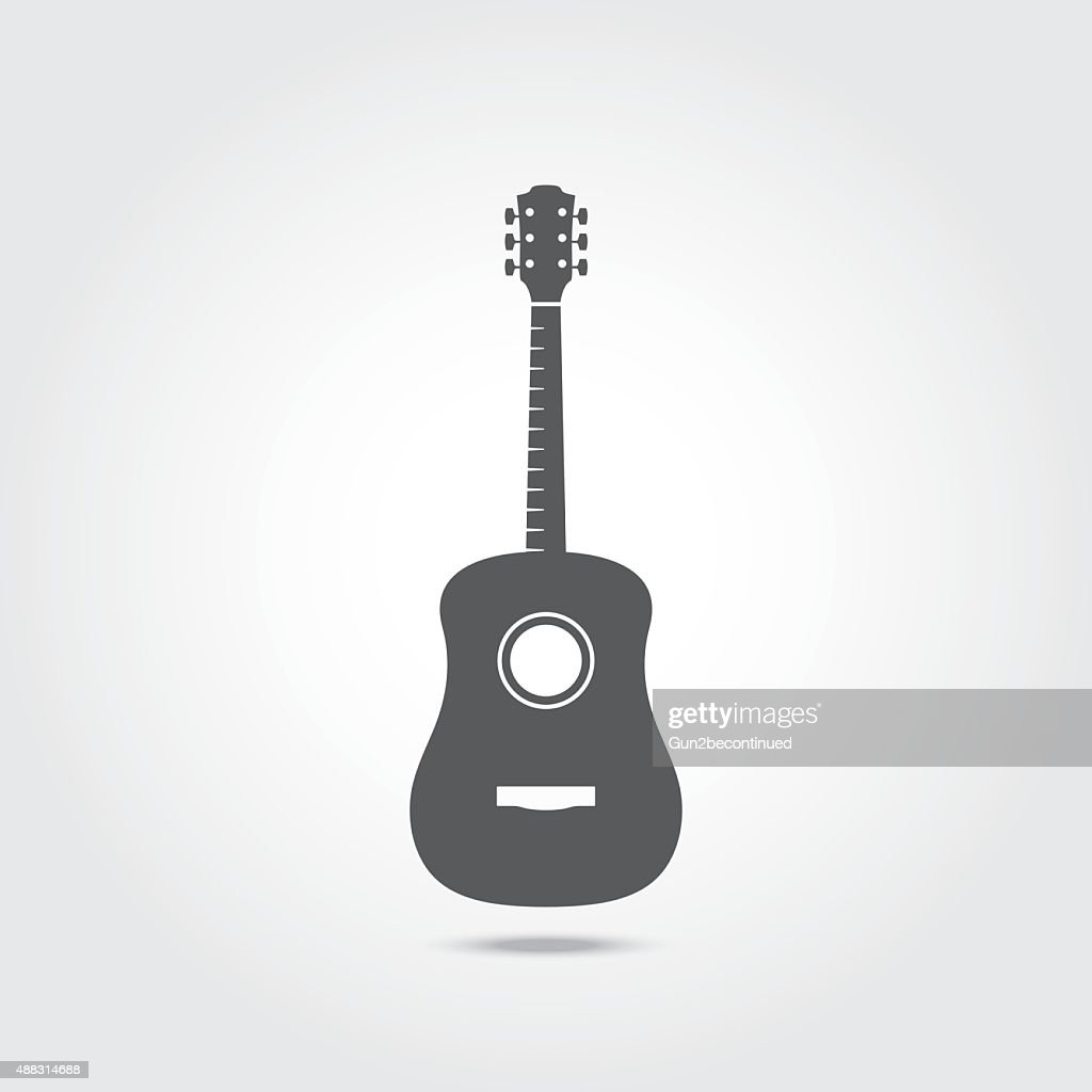 Acoustic Guitar Icon.