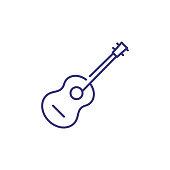 Acoustic guitar line icon