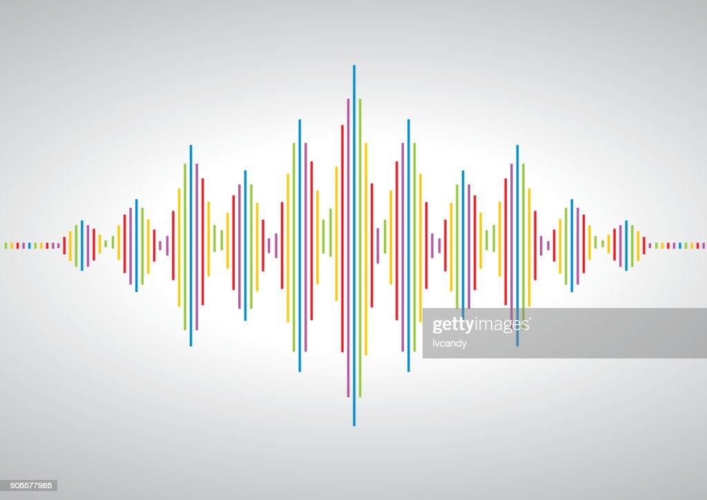 acoustic wave symbol : stock illustration