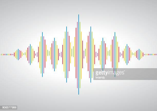 acoustic wave symbol - audio equipment stock illustrations