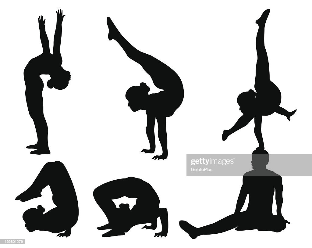 Acrobat Silhouette Collection : Stock Illustration