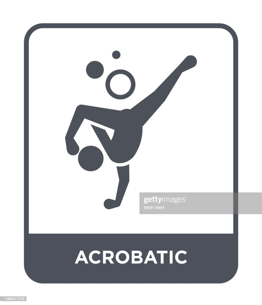 acrobatic icon vector on white background, acrobatic trendy filled icons from Magic collection