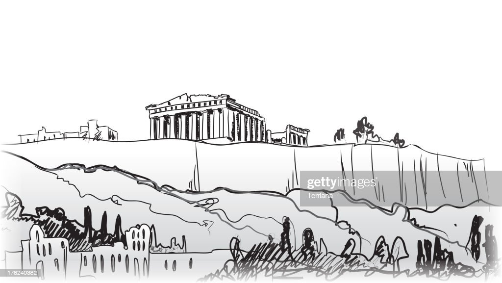 Acropolis Hill in Athens.