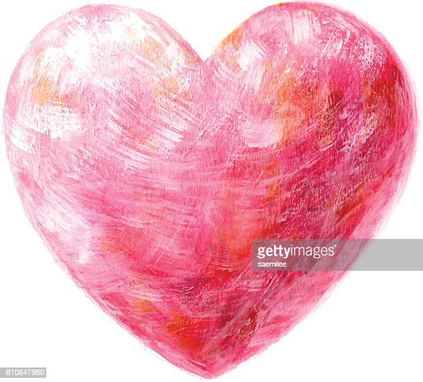 Acrylic Painted Heart