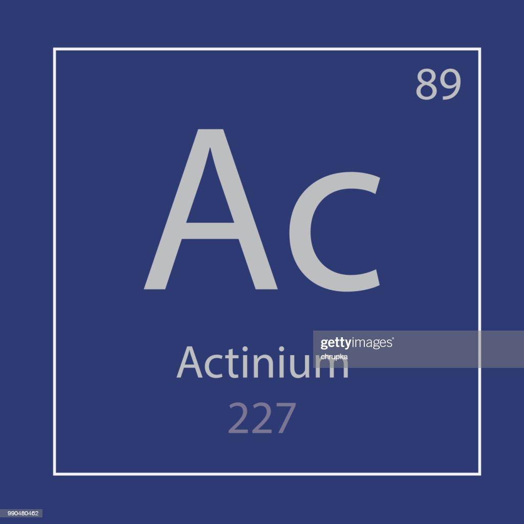 Actinium Ac chemical element icon