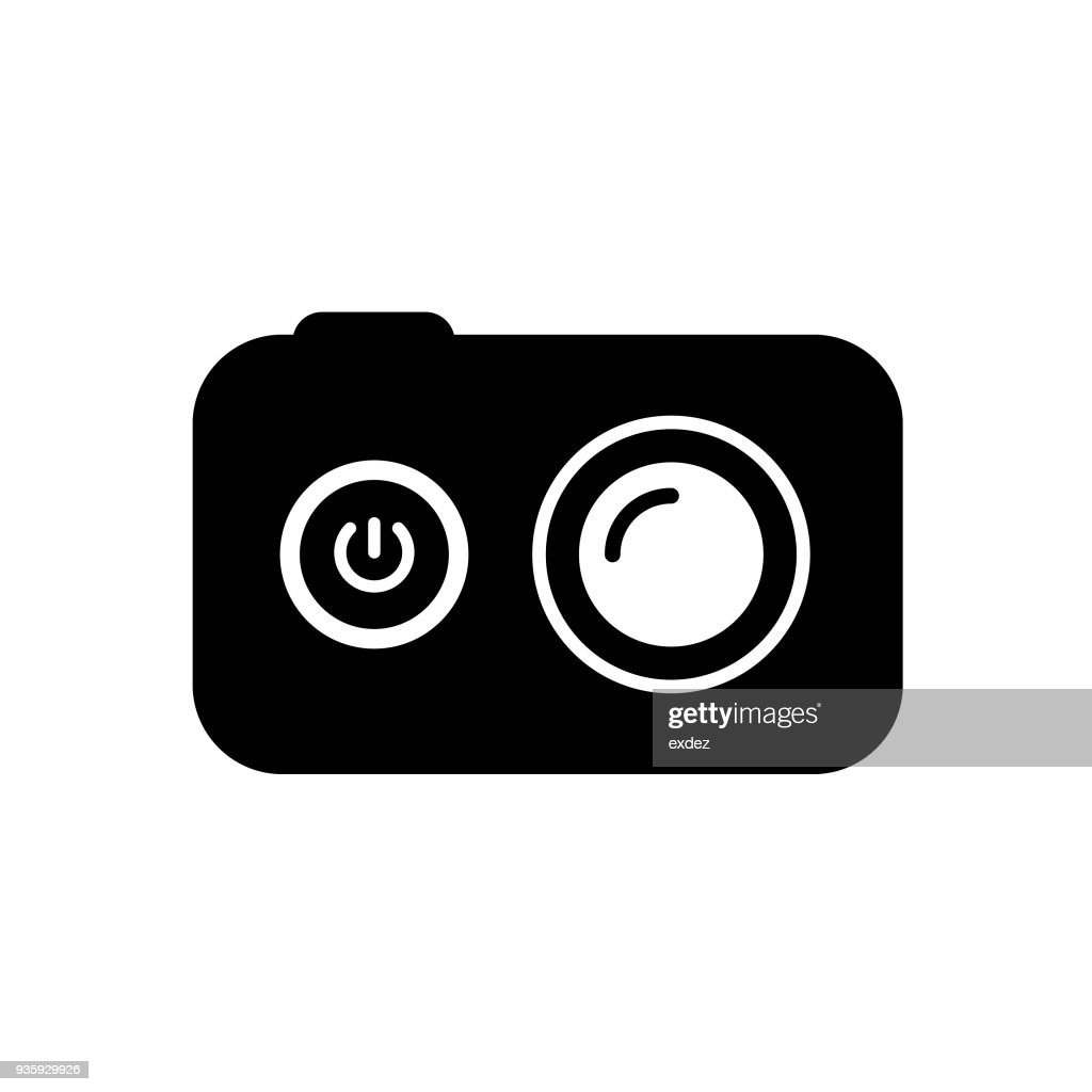 action camera icon : stock illustration