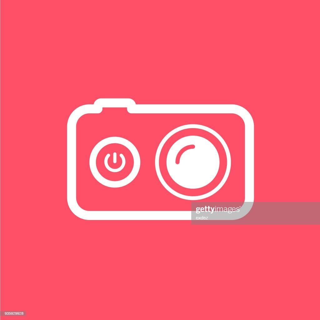 Action Camera icon : stock illustration