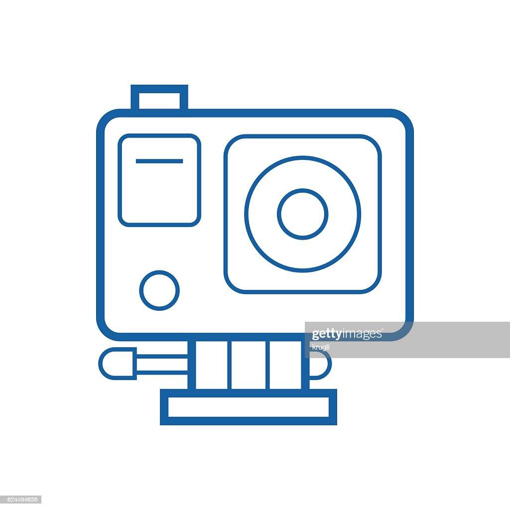 Action Camera Line Icon