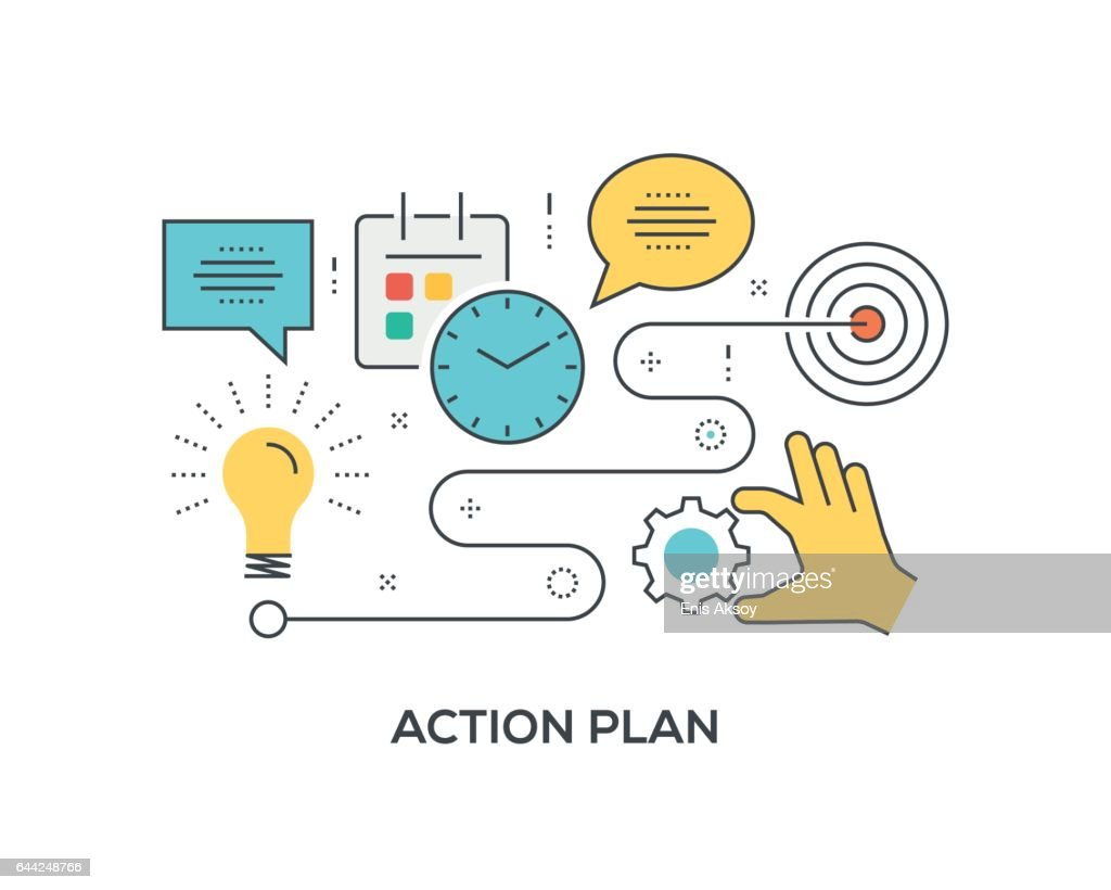 Plan Concept plan concept with icons vector getty images