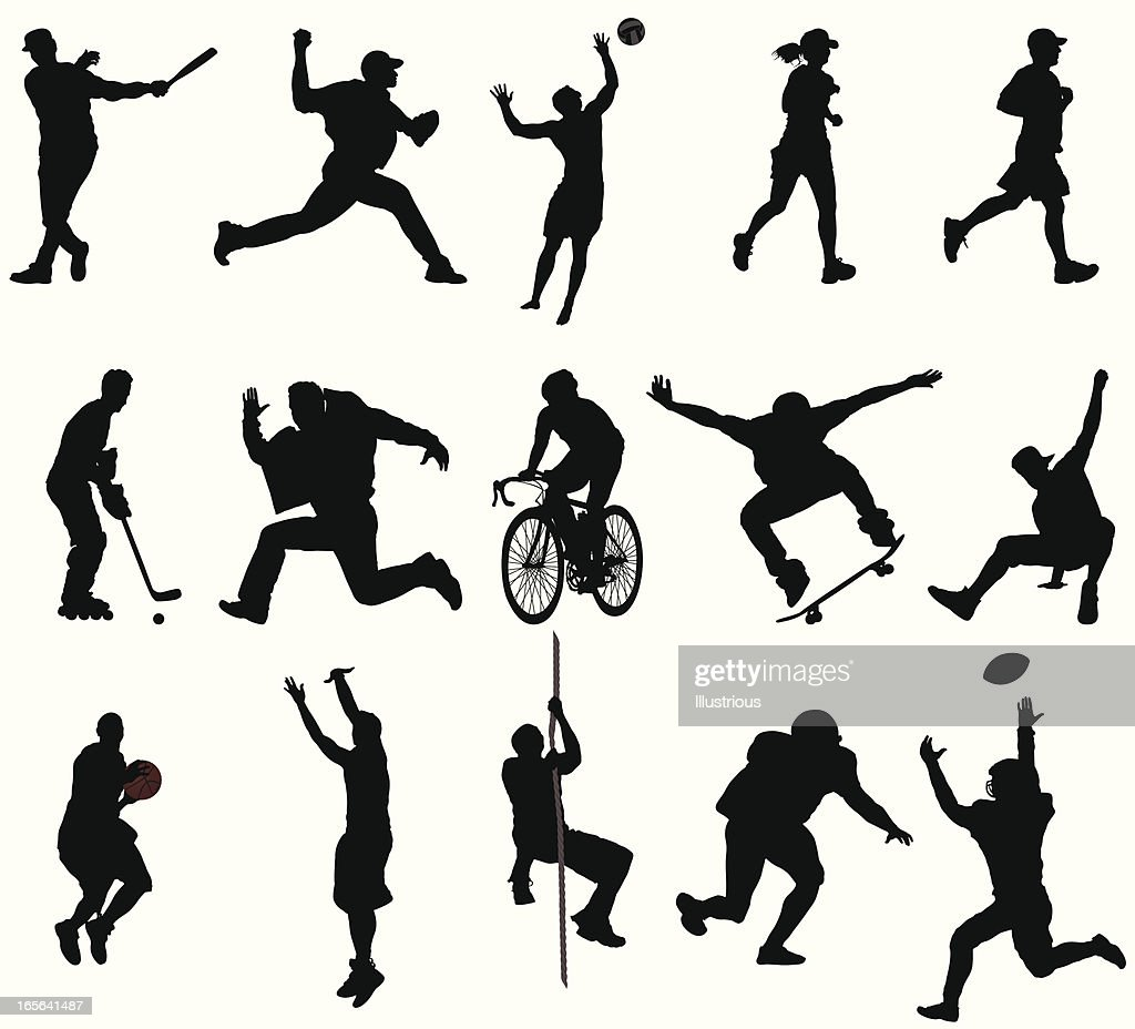 Action Sports Silhouetten : Stock-Illustration