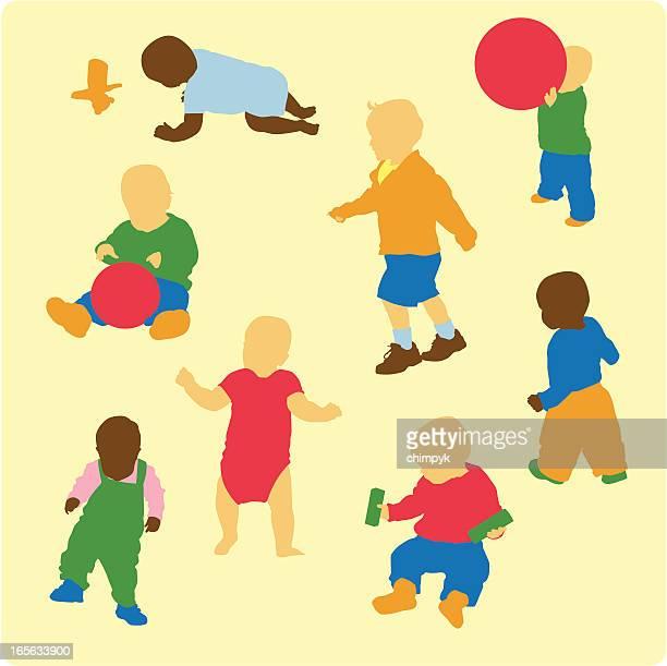ilustrações, clipart, desenhos animados e ícones de atividade para crianças - engatinhando