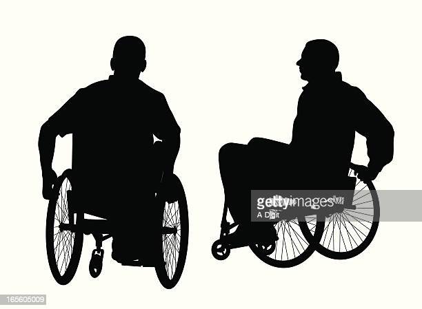 active men in wheelchairs - wheelchair stock illustrations, clip art, cartoons, & icons