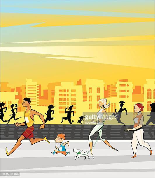 Active Running People