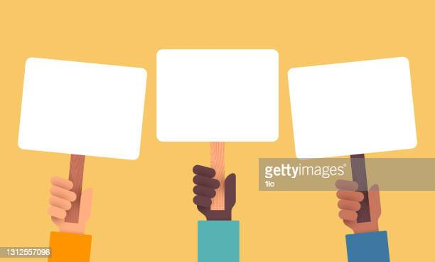アクティビズムと抗議する人々 - バイアス点のイラスト素材/クリップアート素材/マンガ素材/アイコン素材