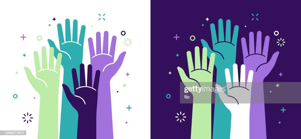 Attivismo Giustizia Sociale e Volontariato : Illustrazione stock