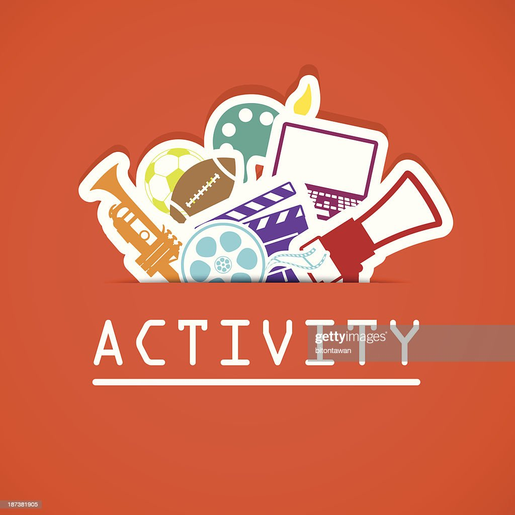 activities icons , Illustration eps 10