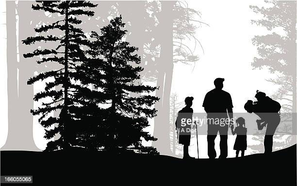 Family Hiking Stock Illustrations And Cartoons