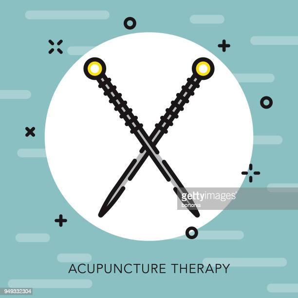 acupuncture open outline naturopathy icon - acupuncture stock illustrations, clip art, cartoons, & icons