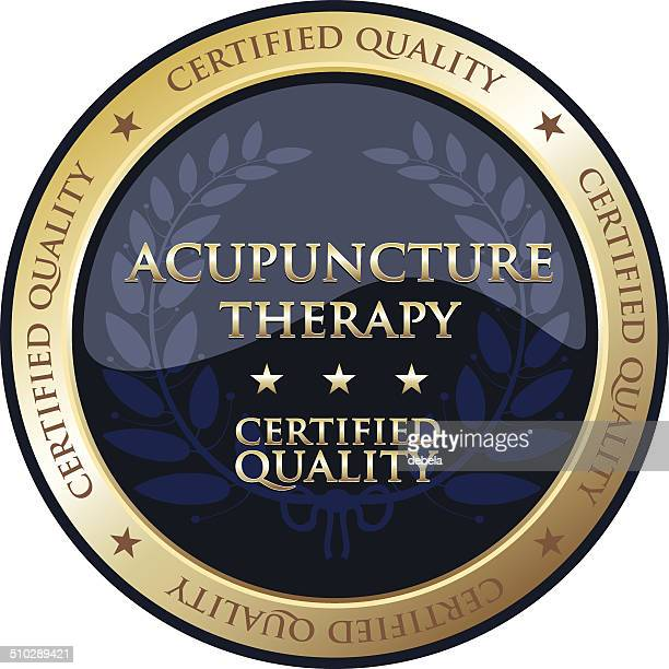 Acupuncture Therapy Gold Emblem