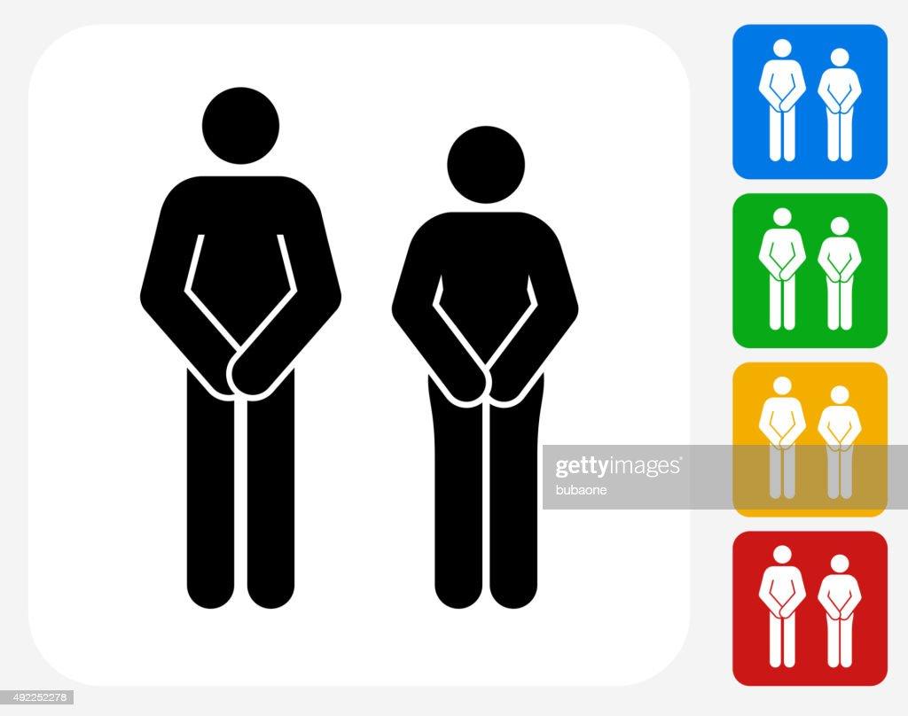 Adam and Eve Icon Flat Graphic Design