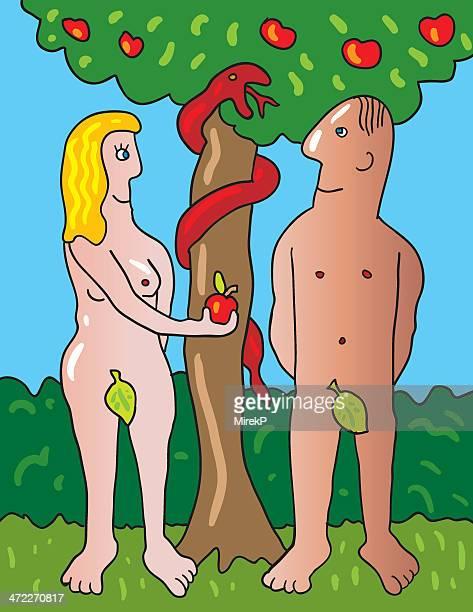 Adam und Eva im Garten von Eden