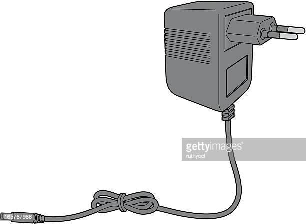 ac adaptor (power supply) - adaptor stock illustrations