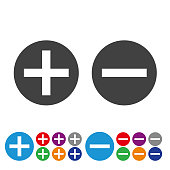 Add and Subtract Icons - Graphic Icon Series
