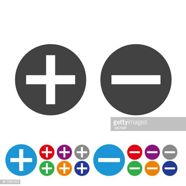 add and subtract icons - graphic icon series - plus sign stock illustrations, clip art, cartoons, & icons