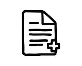 add file icon hand drawn design illustration