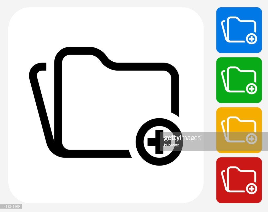 Add Folder Icon Flat Graphic Design