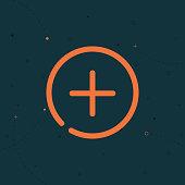 Add glyph flat circle icon