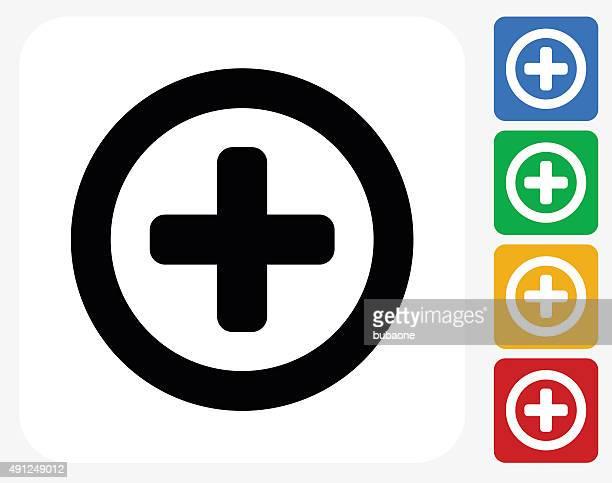 add icon flat graphic design - plus sign stock illustrations, clip art, cartoons, & icons