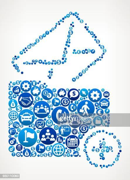 stockillustraties, clipart, cartoons en iconen met brief map business en financiën blauwe pictogram patroon toevoegen - e mail