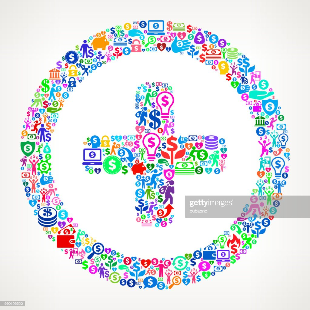 Geld Vektormuster Symbol hinzufügen : Stock-Illustration