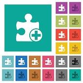 Add new plugin square flat multi colored icons