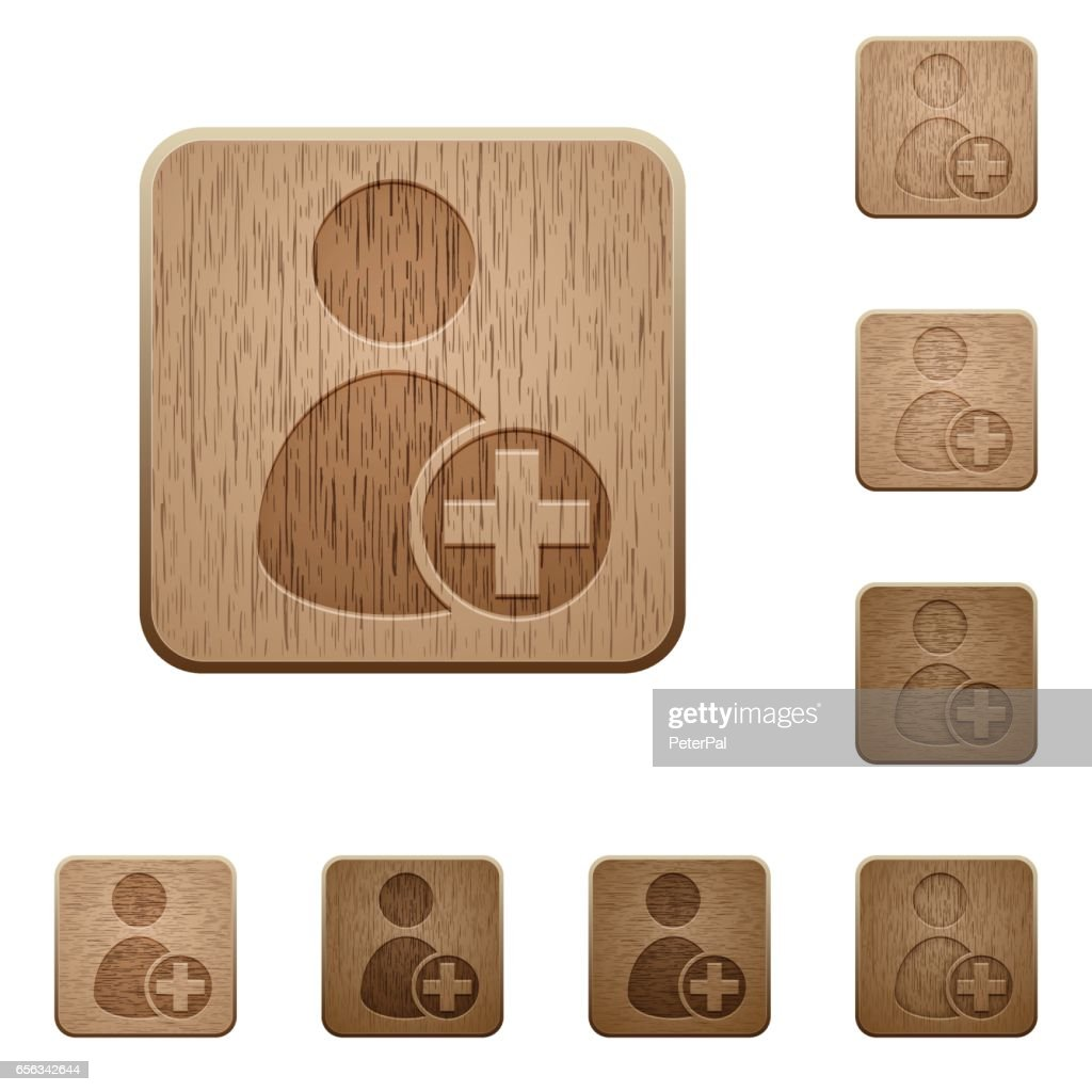 Add new user wooden buttons