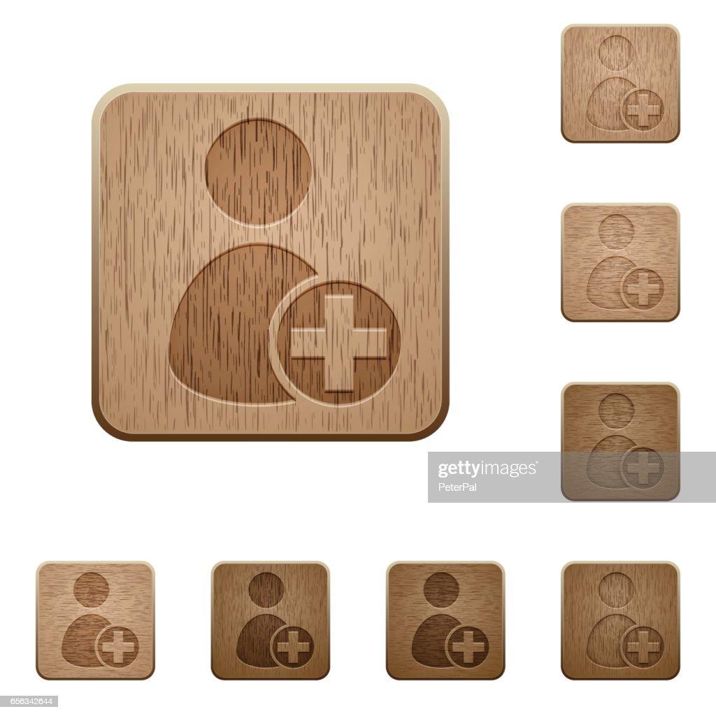 Add new user wooden buttons