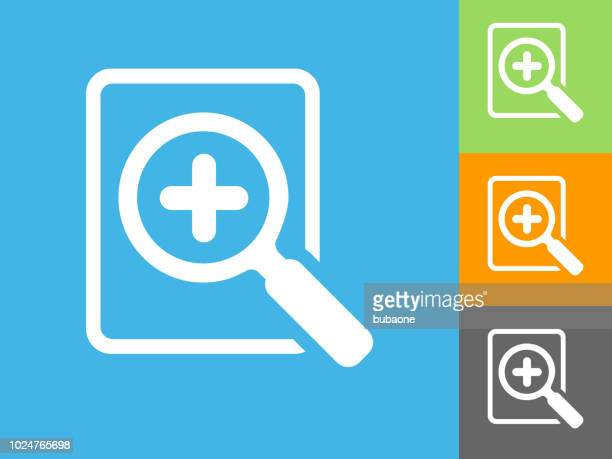 add search  flat icon on blue background - plus sign stock illustrations, clip art, cartoons, & icons