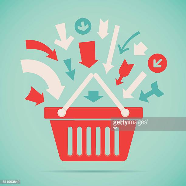 add to basket - shopping cart stock illustrations