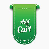 Add To Cart Green Vector Icon Design