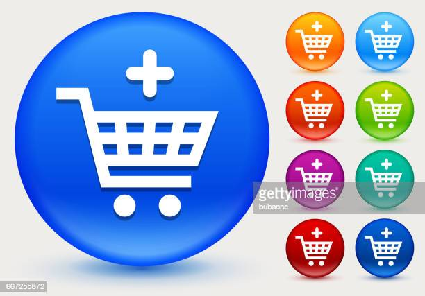 Add to Shopping Cart Icon on Shiny Color Circle Buttons